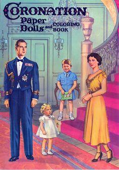 Queen Elizabeth II  Coronation paper dolls and coloring book