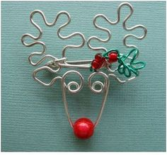 Rudolph wire wrapping - make any shape by first drawing it on a piece of paper and then wrapping your wire by following the design.