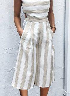 eec754d5e6ac Sleeveless Striped Backless Strappy Wide Leg Jumpsuit novashe.com Neck  Pattern