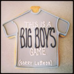 Big boy game - #Spurs #Basketball | Lily's Cookies | www.lilyscookies.com