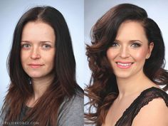 Makeup and hair transformation.  #glow #makeup #hair #curls #woman #makeover