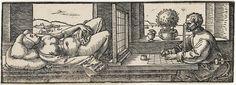 Le dessinateur de la femme couchéeDürer Albrecht (1471-1528)Paris, musée du Louvre, collection Rothschild