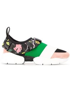 Shop Emilio Pucci ruffled detail sneakers in The Apartment Cosenza from the…