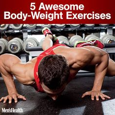 Forget the weight rack. The key to athletic strength is at your feet. #exercise #fitness #workout http://www.menshealth.com/fitness/floor-exercises?cid=soc_pinterest_content-fitness_july14_awesomebodyweightexercises