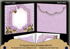 Pale Lilac Pansy Beaded Fancy 7x7inch Easy Envelope Mini Kit on Craftsuprint - Add To Basket!