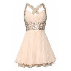 jones and jones Nina Dress/ Peach Sequin