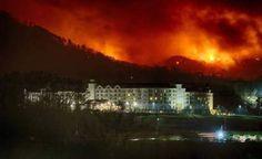 Gatlinburg fire, Dollywood fire