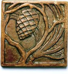 WACO tile no. 205, 4 x 4 in., c. 1925. Collection of Ron Endlich, Tile Antiques (Seattle).