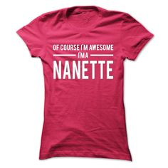 Team Nanette - Limited Edition  #NANETTE. Get now ==> https://www.sunfrog.com/Team-Nanette--Limited-Edition-nhlnnfcgxf-Ladies.html?74430