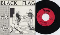 "Black Flag ""Nervous Breakdown"" First Press - 500 made, 1978 Nervous Breakdown, Rare Vinyl, Vinyl Art, Flag, My Love, Music, Artist, Rocks, Musica"