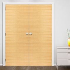 JB Kind Eco Colour Miel Honey Oak Flush Painted Door Pair is Pre-finished. #flushdoors #doubledoors #frenchdoors