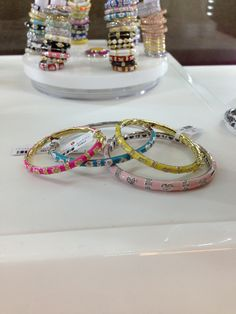These colorful bangles are so much fun!! #lucido #jewelry #bangles #accessories