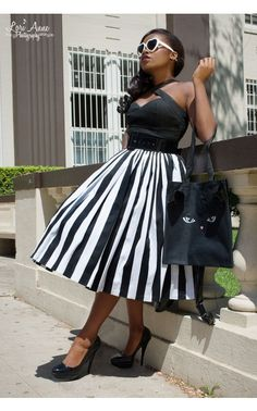 Fans of vintage silhouettes will love this voluminous skirt's expert gathering and nipped-in waist. Made of a generous helping of our custom high-quality cotton sateen with a wide waistband and back, this skirt has a real retro feel that begs to be twirled around in.  - See more at: http://www.pinupgirlclothing.com/jenny-skirt-black-white-stripe.html#sthash.fHGgr1PY.dpuf