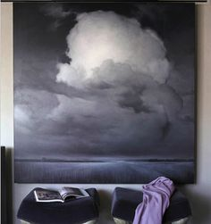 Cloud. James McLaughlin Way - Could make a fine drawing too Landscape Paintings, Painting Clouds, Painting Art, House Beautiful, Beautiful Homes, Storm Clouds, Grey Clouds, Floor Design, House Design