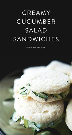 Creamy cucumber salad sandwiches