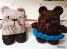 Bubu e Berta orsetti amigurumi, orso crochet, uncinetto,giocattoli morbidi,pupazzi soffici in lana,regalo per bambini e neonati,fatto a mano