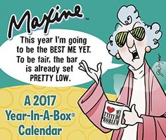 Hallmark's famous fussbudget, Maxine, goes absolutely crabulous in this daily calendar. Maxine is the original outrageous older woman with an acerbic tongue and a wicked outlook on life. Funny Calendars, Desk Calendars, Daily Calendar, Calendar 2017, Daily Page, Funny Christmas Gifts, Favorite Cartoon Character, Funny People, Funny Gifts