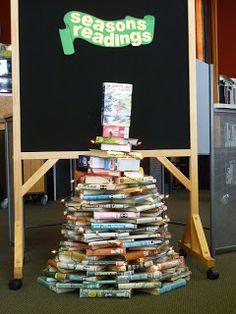Library Displays December On Pinterest Library Displays