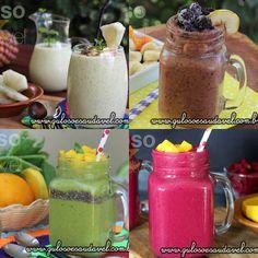 Os smoothies ajudam a consumir legumes e verduras que não gosta. Conheça Benefícios em Tomar Smothies!  Artigo aqui => http://www.gulosoesaudavel.com.br/2016/07/01/beneficios-tomar-smothies/
