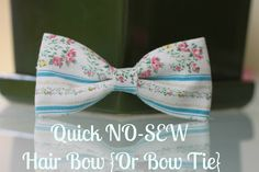 Momma Rake: Quick and Easy NO-SEW Hair Bow {Or Bow Tie}