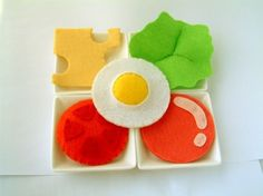 DIY felt Toaster and SandwichPDF Pattern via EmailT03 por fairyfox, $5,99