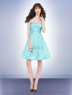 Strapless Aqua 2012 New Bridesmaid Dresses BD0851 by Dream Bridal    designer-wedding-dresses.com