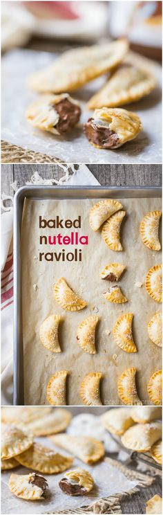 Whip up a batch of baked Nutella ravioli! It's a fun project with a delicious outcome: flaky, buttery pastry surrounding a rich chocolate hazelnut filling.