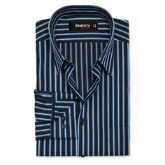 BLACK & BLUE STRIPE BUDGET SHIRT