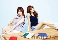"""Girls' Generation's Sooyoung and Seohyun Go Back to School for """"High Cut"""""""