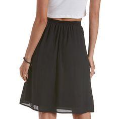 Tie;Waist Full Midi Skirt Charlotterusse