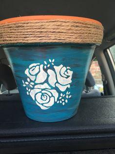 Annie Sloan painted pot