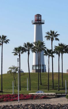 Lion's (Faux) Lighthouse For Sight, Long Beach, California by Karl Agre, M.D., via Flickr