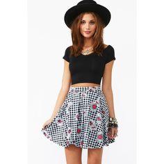 Flower Daze Skirt ($60) ❤ liked on Polyvore