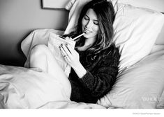 Jessica Biel Poses in Bed for Yahoo! Styles Launch Issue