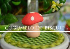 Cogumelo de Biscuit - Para Projetos Simples