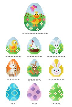 Free Pixel Hobby Easter Bead Pattern on 10 Easter Patterns - Ritohobby. - Free Pixel Hobby Easter Bead Pattern on 10 Easter Patterns – Ritohobby. Hama Beads Design, Hama Beads Patterns, Beading Patterns Free, Weaving Patterns, Embroidery Patterns, Knitting Patterns, Bead Crafts, Diy And Crafts, Crafts For Kids