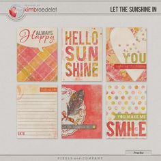 Free Let the Sunshine In Journal Cards from Kimbsdesigns