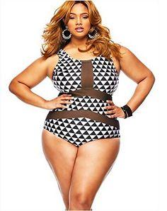 74a1bc8d37 Ya Lida Sexy Fat sister large size bikini swimsuit black 4X-Large    Want