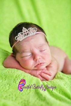 SALE Pink Princess Tiara Headband- Newborn Crown- Royal Baby- Disney Baby -  Photo 7ebba6f4e757