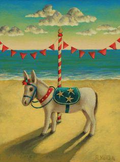 'Donkey Rides' by Antoinette Kelly 2014. www.artfinder.com/antoinette-kelly