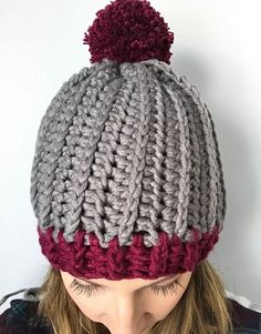 The Robin Beanie PDF DIGITAL Crochet PATTERN, Crochet beanie pattern, womens winter hat with pompom, pattern for winter beanie, chunky hat ****** This listing is for a PDF pattern ONLY. This is NOT A FINISHED PRODUCT.****** To purchase the completed product click here: #CrochetBeanie