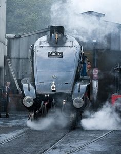 Sir Nigel Gresley emerging from the sheds, Grosmont by nymr.co.uk, via Flickr