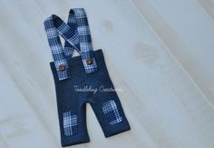 Newborn Photography Set   Fall Upcycled Blue by ToodleBugCreations