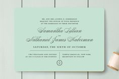Notable Wedding Invitations by Olivia Raufman at minted.com