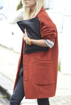 coat and clutch