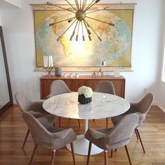 See more >> http://www.pinterest.com/happyhealthyhip/ warm, contrmporary, dining room, map