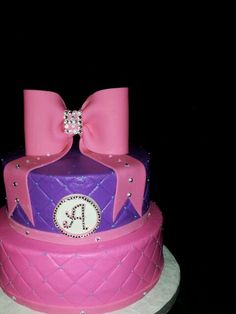 Birthday cake with bling