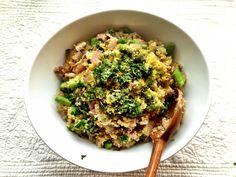 Truffle Mushroom Quinoa Risotto w/ Asparagus — Cooking for Family |