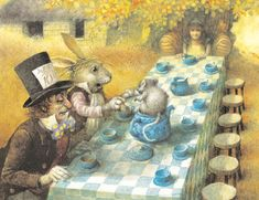 illustration by Robert Ingpen for Alice's Adventures in Wonderland, published by Sterling Illustrated Classics