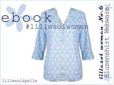 Ebook / Schnittmuster lillesol women No.6 Blusenshirt Webware